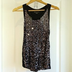 NWOT A/X Sheer Sequined Tank Top